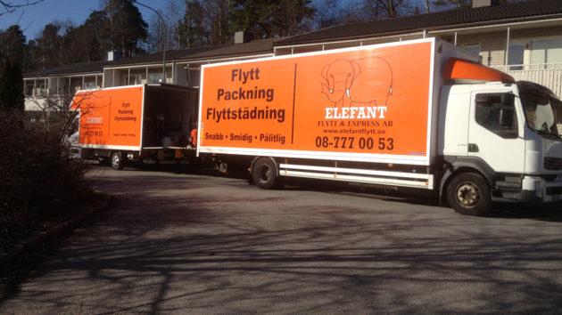 Anlitade Elefantflytt för både flytt & städ